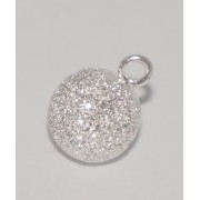 Stardust ball pendant with one loop