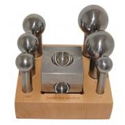 Large dapping punch & block set