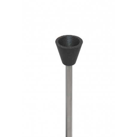 Silicone polishers 9x8,5 mm with shaft
