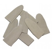Suede leather finger guard